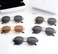 Benjamin 01 erkek ve kadın plaj moda güneş gözlüğü yuvarlak küçük ayna çerçevesi, UV400 polarize lens, 5 renk seçilebilir, kalite güvencesi, kutu, 139642