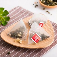 Bolsa de té de pirámide filtros Nylon Bolsa de té Sola cadena con etiqueta Transparente Vacío bolsas de té
