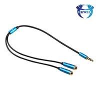 35 cm 2 em 1 cabo do divisor de fone de ouvido 3.5mm y áudio jack splitter extensão cabos masculinos para cabos auxiliares fêmeas