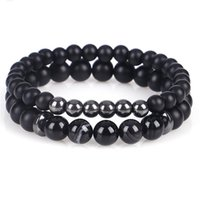 Fashion Beaded Women Stone Bracelet Simple Classic Round Bead Charm Stand Bracelets & Bangles For Men Handmade Pulceras Beaded, Strands