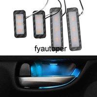 4Pcs Armrest Interior Door Handle Lighting Car Styling LED Car Inner Bowl Light Universal Auto Atmosphere Lamp Decorative Lights