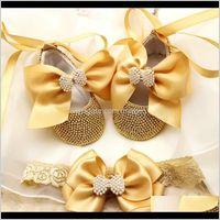 First Walkers Arrivo Gold Battesm Born Princess Doccia Scarpe perla Scarpe Baby Girl Regalo battesimo 2GM2Q SC1ME