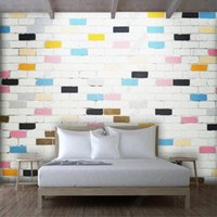 Milofi Custom 3D Wallpaper Mural Color Brick Pastoral Texture Living Room Bedroom Background Wall Decoration Painting Wallpapers