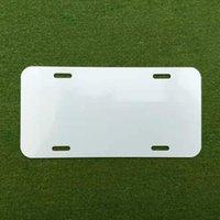 Sublimation Aluminium-Kennzeichen leeres weißes Aluminiumblech DIY thermische Übertragung Werbeplatten benutzerdefinierte logo 15 * 30 cm 4löcher MMA135