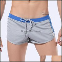 Mens Equipment Sports & Outdoorsmens Boxer Swimming Trunks Summer Quick-Drying Beach Shorts Awkward Pocket Swimsuit Gay Sexy Swimwear Drop D