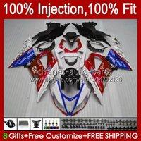 Kit d'injection pour Kawasaki Ninja Rouge Stock ZX 6R 6 R 636 600 CC ZX-636 2013 2014 2015 2016 2017 2018 Body 12NO.102 ZX-6R ZX600 600CC ZX636 ZX6R 13 14 15 16 17 18 OEM Catériel