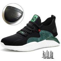 Drop Men Women Work Shoes Steel Toe cap Safety Boots European Standard Anti-smash Anti-puncture Sport 210914