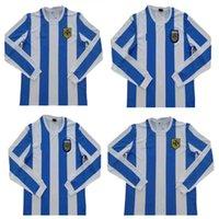 Retro Argentina Soccer Jersey 1986 1978 Messi Maradona Caniggia Batistuta Riquelme ORTEGA Camicia da calcio a maniche lunghe