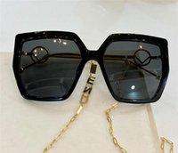 جديد تصميم الأزياء امرأة نظارات شمسية 0410S لوحة مربع إطار شعبية نمط بسيط مع سلسلة الأذن تصميم uv 400 نظارات واقية