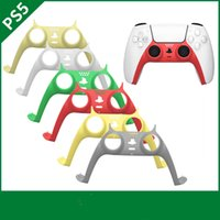 PS5 Original Game Controllers Gamepads Decoration Cases Replacement Face Shell Handle Cover Middle Frame DIY Gamepad Decorative Strip