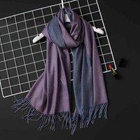 2021 Winter Women Scarf Fashion Solid Soft Cashmere Scarv for Lady Pashmina Shawls Wrap Blanket Bandana Female Foulard Tassel