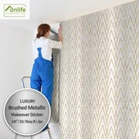 Wallpapers branco fundo imitação ouro geométrico casa modificação adesivo autoadesivo art deco papel de parede metal triângulo malha diamante