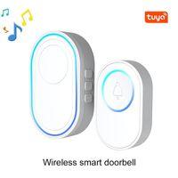 Doorbells Home Welcome Doorbell Intelligent 433Mhz Wireless Or 58 Sound Tuya Smart Wifi Alarm System For Anti-theft