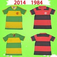 Retro 2014 Flamengo Soccer Jersey 1984 Home Red Black Black Vintage Classic Commemorate Collection Away Camicia da calcio fiammingo verde e giallo