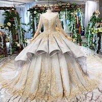 Robes de soirée HTL508 robe de billes de luxe dames pour occasions spéciales à manches longues à manches longues en dentelle dentaire ROCHII
