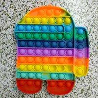 Big Taille 20cm Cravate Tye-Dye Rainbow Push Bubble Fidget Toys Toys Decompression Toy Fête Favoris Simple Tapis de sol Dimple ou Coaster Soulagement anti-stress W2