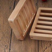 Durable Holz Seifenschale Tray Halter Lagerung Seife Rack Platte Kastenbehälter für Badewanne Duschplatte Badezimmer DHE5842