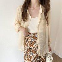 Women's Jackets Make Irregular Design Feeling Thin Summer Suntan Shirt Female 2021 Chiffon Uv Protection Plus