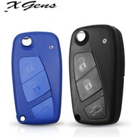 For Fiat 500 Key Shell Panda Stilo Ducato Punto Auto Folding Replacement Car Key Fob Cover Case Fob Remote Car 3 Buttons