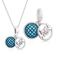 Giornata della mamma Series 925 Sterling Sterling Silver Glitter Globe Mum Dangle Branelli di fascino Fit Fit Original Pandora Charms Bracciale gioielli