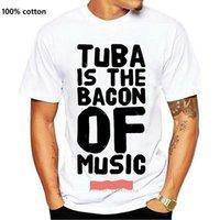 Мужские футболки TUBA - это бекон музыкальной футболки высочайшего качества интересные дизайны мужчины футболка хлопчатобумажные буквы юмористический анларачный летний стиль