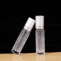 10ml de rolos de óleo essencial garrafas de vidro vazio roll em essenciais Óleos Perfume Essência Recipiente de Viagem Amostra Esvazie Bottle Lla7343