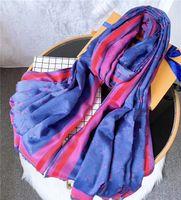 Mode Frauen Schal Vier Jahreszeiten Herbst Winter dünne lange Seidenwolle 180 * 70cm Schal Klassiker Goldgewinde