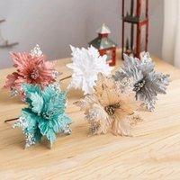 Decorative Flowers & Wreaths 6 Colors Artificial Glitter Handmade Decoration Ornaments Christmas Wedding DIY Party Supplies Home Garden