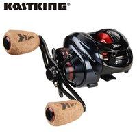 Kastking Spartacus / Spartacus Plus Baitcasting Reel نظام الفرامل المزدوج 8 كيلوجرام ماكس السحب 11 + 1 Bbs 6.3: 1 عالية السرعة الصيد
