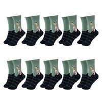Men's Socks 10 Pairs Men Cotton Casual Stylish Breathable Fashion Crew Lot Sport Bike Spring Summer Male Green Tube Brand