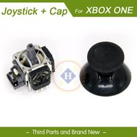 Oyun Denetleyicileri Joysticks Hink 2 Pair / lot Joystick 3D Analog Sensör + Cap Kapak Xbox One Controller Gamepad için