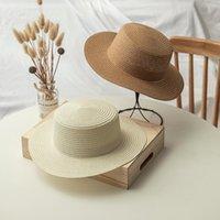 Chapeau de main chapeau naturel plat plat panama boater plage ensoleillée brimle draw pliable roll up unisexe usine de gros chapeaux