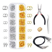 1314Pcs Open Jump Rings and Lobster Clasps Jewelry Repair Tools Kit Making Supplies Finding for Necklace LR05