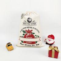 Decorazione del partito Decorazione regalo di Natale Borsa Xmas Element Pickup Camion Trendal Tree Christma Borse Pure Cotton Cotton Beam Bocca Caramella Pocket Tiktok DHL Veloce CY23