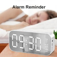 A18 Mini Mirror Alarm Clock Speakers Smart Wireless Bluetooth Speaker with Stereo Sound Effect