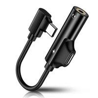 Tipo USB C a 3.5mm Jack Typec Audio Splitter Headphone Fone de Ouvido AUX 3.5 Adaptador Carregador USB-C Cabo para Xiaomi Mi6 Mix2 para Huawei
