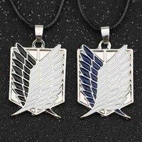 Attaque sur Titan Collier Wings of Liberty Freedom Scout Regiment Sondage de la Légion Recon Corp Badge Pendentif Mode Anime Wholesale 210331