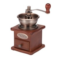 Moedores de café manuais 1pccoffee bean moedor mão de madeira aço inoxidável spice ball moinho com cerâmico millston
