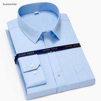 Топ 100% хлопок социальный формальный с длинным рукавом бизнес офис Slim Fit одеваются рубашки для мужчин Paolo SiRum бренд мужская