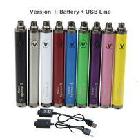 Vision Spin II 2 Bateria Ładowarka USB Zmienna Napięcie 1600mAh Vision 2 Bateria Elektroniczne papierosy dla 510 Gwint E Papieros Pióro Vape