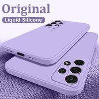 Cell Phone Cases ASM-funda cuadrada de silicona líquida para teléfono móvil Samsung, carcasa Samsung Galaxy S21 S20 S10 Ultra Plus FE A72 A71 A70 A52 A51 A50 A21S A12 4G 5G