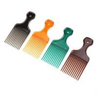 Haarbürsten 1 Stück Pick Kamm breite Zähne Pinselgabel Haarbürste einsetzen Harzausrüstung für lockige Afro-Styling-Werkzeuge
