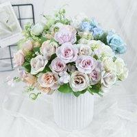 Decorative Flowers & Wreaths 1 Bunch Artificial Rose Silk Flower Bouquet For Home Wedding Party Decoration Arrangement Fake Floral Supplies