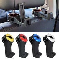 Hook Hook Hook Toporte de reposacabezas de asiento trasero Auto Ganchos Clip para bolsa de bolso Tela Tela Supermería Automóvil Accesorios Interior