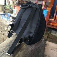 الحرارة! الفاخرة الشهيرة الأزياء الأسود حقيبة سفر حقيبة الرجعية نمط خمر الأسود حقيبة الظهر هدية VIP