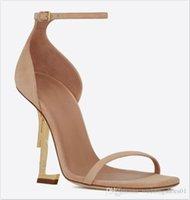 С коробкой 2020 новый Desinger черный настоящий кожаный каблук мода свадебные свадебные туфли скромные Eden High каблуки буквы женщин вечерняя вечеринка обувь 10см