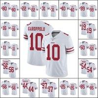 """샌프란시스코 """"49ers""""남자 # 97 Nick Bosa 85 George Kittle 80 Jerry Rice Women 청소년 백색 증기 손잡이 한정 저지"""