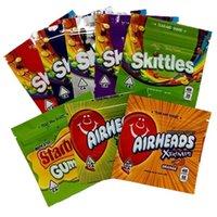 Skittles Bolsa de Embalagem Starburst Starburst Saco Airheads Gummies Mylar Bags Embalagem Frizzy Cola Picada Xtremes Zipper Cheiro Pacote Resealable Prova