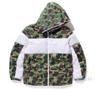 겨울 남성 디자인 재킷 패션 위장 된 재킷 코트 패턴 Mens Parkas Trend 편지 인쇄 Streetwear S-3XL