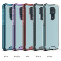 2 in 1 Clear Acrylic TPU Airbag Shockproof phone Cases For MOTO E6 E7 E5 Play Go G7 G8 Power Lite G6 Z3 P30 G Stylus 5G E6S G9 Plus One Fusion cover case